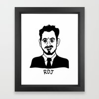 RDJ Framed Art Print