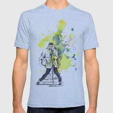 Elvis Presley Dancing Mens Fitted Tee Athletic Blue SMALL