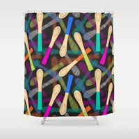 Wood Spoons Shower Curtain
