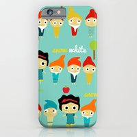 iPhone & iPod Case featuring Snow White and the 7 dwarfs by Rita Acapulco