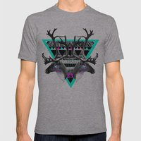 ▲CARIBOU▲ Mens Fitted Tee Athletic Grey SMALL