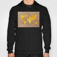 World map 3 gold Hoody