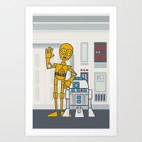 EP4 : C3PO & R2D2 Art Print