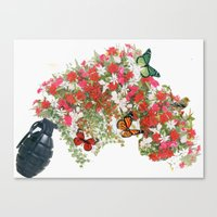 Make love not war - by Ashley Rose Standish Canvas Print