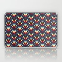 rainbowaves pattern Laptop & iPad Skin