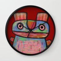 Rabbit Work Out Wall Clock