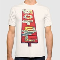 South Tacoma motel sign Mens Fitted Tee Natural SMALL