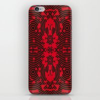 Oscillating Crimson iPhone & iPod Skin