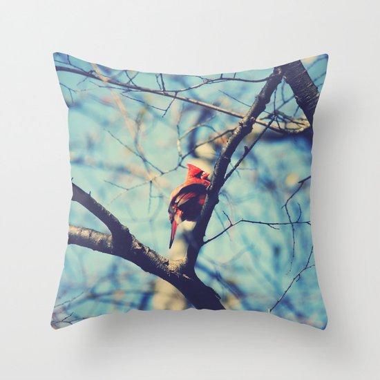 Winter Sonnet Throw Pillow