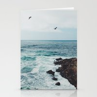 Sea Blue Stationery Cards
