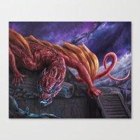 Red Wyvern Canvas Print