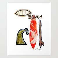 Surf Design Art Print