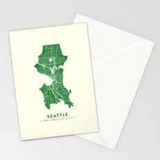 Seattle Map Stationery Cards