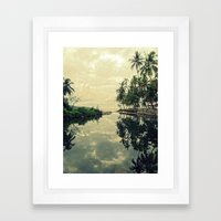 Mood for Reflection Framed Art Print