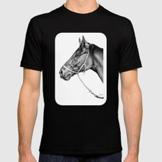 Sir Alfred - Racehorse : Graphite Black Mens Fitted Tee SMALL