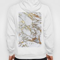 Gold Marble Hoody