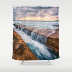 Ocean waves landscape Shower Curtain