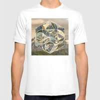 Geometric mountains 1 Mens Fitted Tee White SMALL