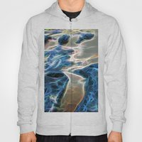 Abstract rock pool and sand on a beach in Queensland Hoody