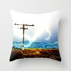Power Baby, Power by D. Porter Throw Pillow
