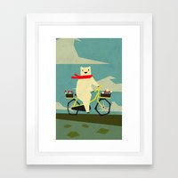 Yeti Taking a Ride Framed Art Print