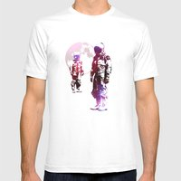 Space Men Mens Fitted Tee White SMALL