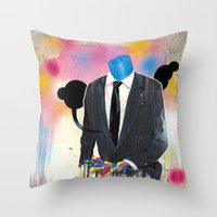 Plasticine Man In A Suit… Throw Pillow