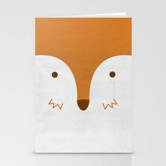 Mr Fleecy Fox Stationery Card