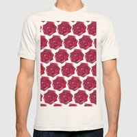 Rose garden Mens Fitted Tee Natural SMALL