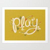 Play - Yellow Art Print
