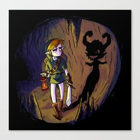 Link and the Imp Canvas Print