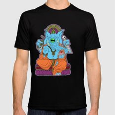 Ganesha SMALL Black Mens Fitted Tee