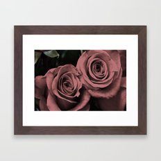 Binary, 0r Two Hearts Beat As One Framed Art Print