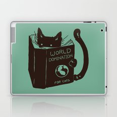 World Domination for Cats (Green) Laptop & iPad Skin