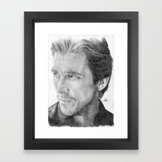 Christian Bale Traditional Portrait Print Framed Art Print