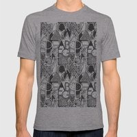 Alphabet Mens Fitted Tee Athletic Grey SMALL