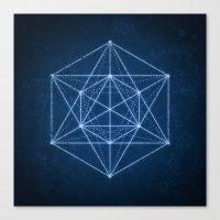 Sacred geometry / Minimal Hipster Symbol Art Canvas Print