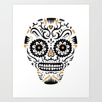 Sugar Skull SF - white Art Print