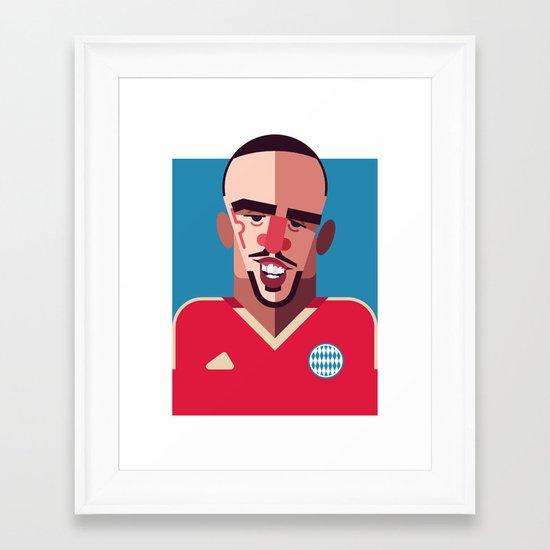 FR7 | Die Roten Framed Art Print