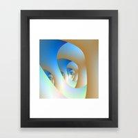 Blue Labyrinth Framed Art Print