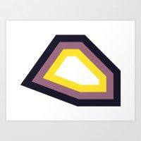 Yellow & Purple Stripy S… Art Print