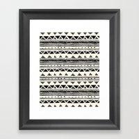 Tribal Vintage Stripe Bl… Framed Art Print