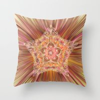 Vintage Star Aura Throw Pillow