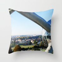 Belgium - Atomium Throw Pillow