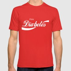 Enjoy Diabetes Mens Fitted Tee Red SMALL