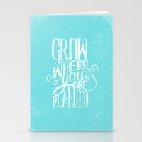 Grow Where You Are Plant… Stationery Cards