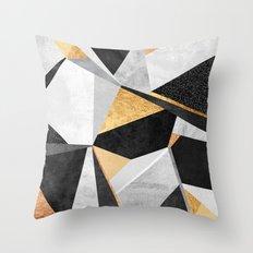 Geometry / Gold Throw Pillow