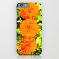 iPhone & iPod Case featuring Pop Art Flowers by Portia Alice