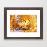 Golden Circle Framed Art Print