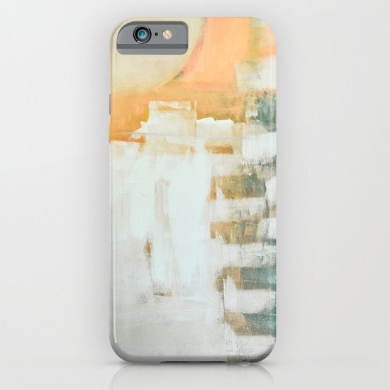 abstract, orange and green iPhone & iPod Case